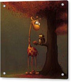 Autumn Giraffe Acrylic Print