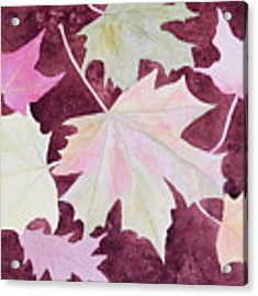 Autumn Leaves Acrylic Print by Laurel Best