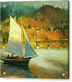 Autumn Sail Acrylic Print by Steve Henderson