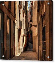 Barcelona - Gothic Quarter 004 Acrylic Print by Lance Vaughn