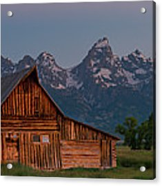 Barn On Mormon Row Acrylic Print by Gary Lengyel