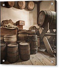 Barrels By The Window Acrylic Print by Gary Heller