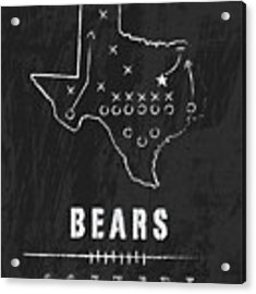 Baylor Bears / Ncaa College Football Art / Waco Texas Acrylic Print by Damon Gray
