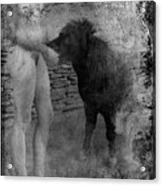 Belfast Nude With Mininature  Acrylic Print by Jennifer Wright