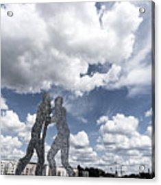 Berlin Molecule Men Spree Acrylic Print by Juergen Held