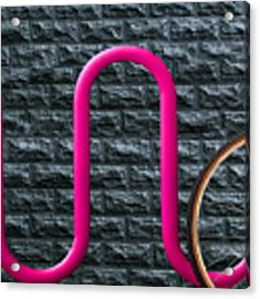 Bike Rack Acrylic Print by Paul Wear