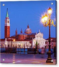 Blue Hour In Venice Acrylic Print by Barry O Carroll