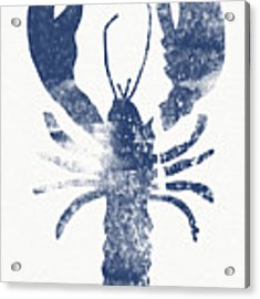 Blue Lobster- Art By Linda Woods Acrylic Print