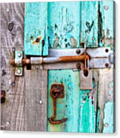 Bolted Door Acrylic Print by Tom Gowanlock