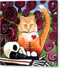 Boris And Me Acrylic Print by Delight Worthyn
