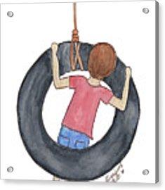 Boy On Swing 1 Acrylic Print by Betsy Hackett