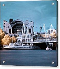Bridge To Charing Cross Acrylic Print by Helga Novelli