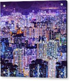 Bright Lights, Big City Acrylic Print by Susan Maxwell Schmidt