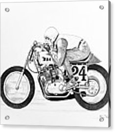 donald koehler acrylic prints 1956 Panhead Bobber drawings motorcycles assorted