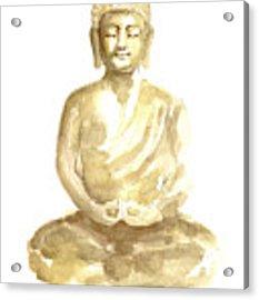 Buddha Watercolor Art Print Painting Acrylic Print by Joanna Szmerdt