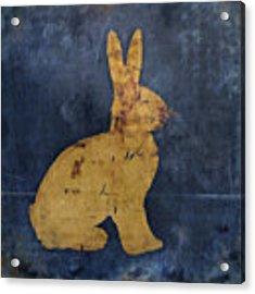 Bunny In Blue Acrylic Print by Carol Leigh