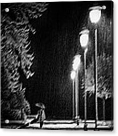 But The Night Is Still Young Acrylic Print by Samanta