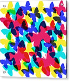 Butterflies Acrylic Print by Bee-Bee Deigner