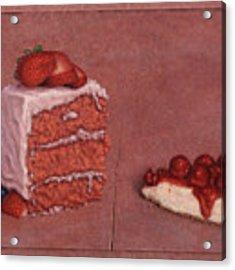 Cakefrontation Acrylic Print by James W Johnson