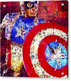 Captain America Acrylic Print by Al Matra