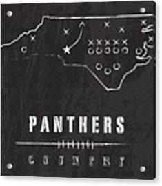 Carolina Panthers Art - Nfl Football Wall Print Acrylic Print