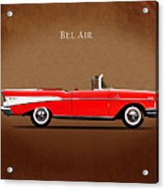 Chevrolet Bel Air Convertible 1957 Acrylic Print