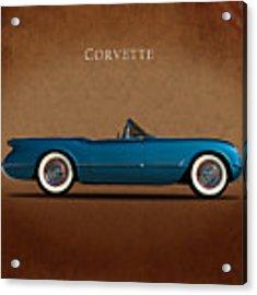 Chevrolet Corvette 1954 Acrylic Print by Mark Rogan