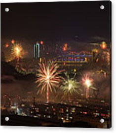 Chinese New Year Fireworks 2018 I Acrylic Print by William Dickman