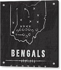 Cincinnati Bengals Art - Nfl Football Wall Print Acrylic Print by Damon Gray