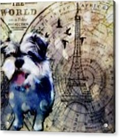 City Girl Goes To Paris Acrylic Print by Delight Worthyn