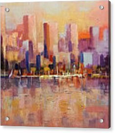 Cityscape 2 Acrylic Print by Rosario Piazza