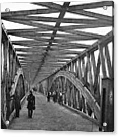 Civil War - Chain Bridge Acrylic Print by William Morris Smith