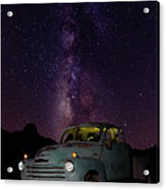 Classic Truck Under The Milky Way Acrylic Print by James Sage