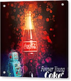 Coca-cola Forever Young 15 Acrylic Print by James Sage