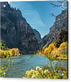 Colorado River And Glenwood Canyon Acrylic Print by Jemmy Archer