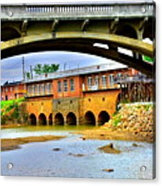 Columbia Canal At Gervais Street Bridge Acrylic Print by Lisa Wooten