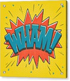 Comic Wham Acrylic Print