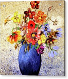 Cornucopia-still Life Painting By V.kelly Acrylic Print by Valerie Anne Kelly