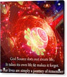 Cosmic Inspiration God Source 2 Acrylic Print by Shawn Dall