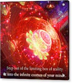 Cosmic Inspiration God Source Acrylic Print by Shawn Dall
