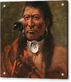 Cree Chief Acrylic Print by Edgar S Paxson