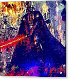 Darth Vader Acrylic Print by Al Matra