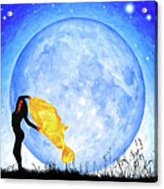 Daughter Of The Moon Acrylic Print by Mark Tisdale