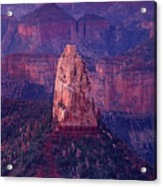 Dawn Mount Hayden Point Imperial North Rim Grand Canyon National Park Arizona Acrylic Print by Dave Welling