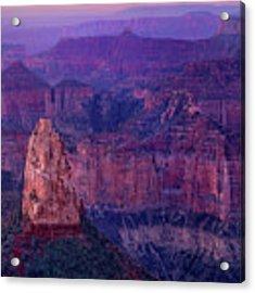 Dawn Mount Hayden Sunrise North Rim Grand Canyon Arizona Acrylic Print by Dave Welling