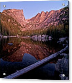 Dream Lake Acrylic Print by Gary Lengyel