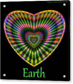 Earth Acrylic Print by Visual Artist Frank Bonilla