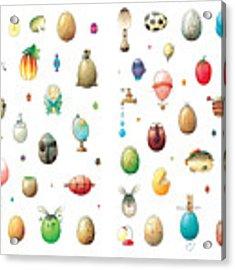 Eastereggs Acrylic Print by Kestutis Kasparavicius