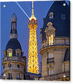 Eiffel Tower From Passy Acrylic Print by Brian Jannsen