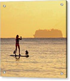 Evening Paddle Acrylic Print by David Buhler